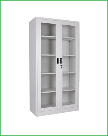 FC-G5 Swing Glass Two Doors Metal cabinet